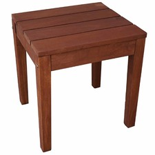 Single Outdoor Wooden Stool