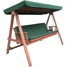 Garden Swing Bed With Cushion & Canopy