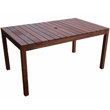 Rectangular Outdoor Wooden Dining Table