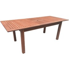 Extendable Shorea Outdoor Dining Table