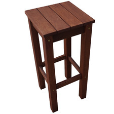 78cm Patio Shorea Wood Outdoor Barstool