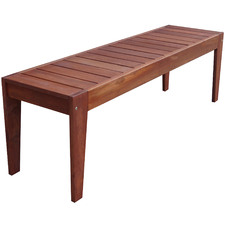 3 Seater Lazio Shorea Wood Outdoor Backless Bench