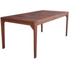 Lazio Shorea Wood Outdoor Dining Table