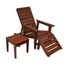 2 Piece Lazio Shorea Wood Deck Chair & Side Table Set