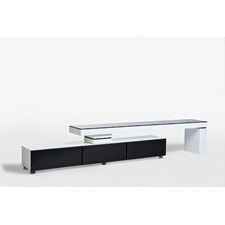 Entertainment Unit in White and Black