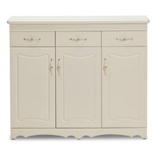 3 Door 3 Drawer French Provincial Shoe Cabinet
