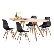 Betty Dining Table Set with 4 Replica Eames Chairs