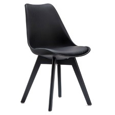 Black Padded Eames Replica Chairs (Set of 2)
