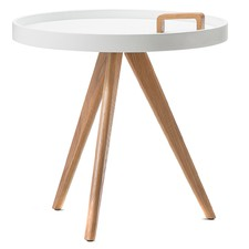 Scandi Tray Side Table with Handle