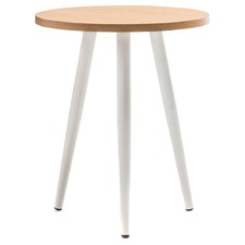 Ash & White Round Dizzy Side Table