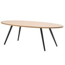 Ash & Black Oval Dizzy Coffee Table