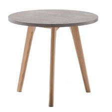 Raakel Concrete Look Side Table