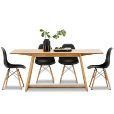 Manhattan Dining Table & Eames Replica Chairs Set