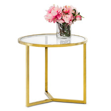 Gold Polished Luxe Round Side Table