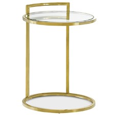Gold & White Tall Stella Accent Table