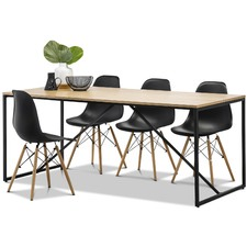 Macy Dining Table & Eames Replica Chairs Set