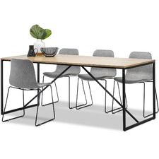 Macy Dining Table & Sadel Dining Chairs Set