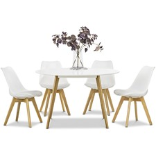 White Heather Dining Table & Eames Replica Chairs Dining Set