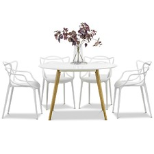 4 Seater Heather Dining Table & Phillipe Starck Chairs Set