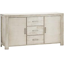 White Wash Arya Acacia Wood Sideboard