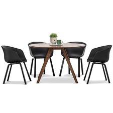 Milari Dining Table & Hay Scoop Replica Chairs Set