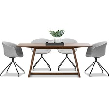 Manhattan Dining Table & Hee Welling Replica Fabric Chairs Set