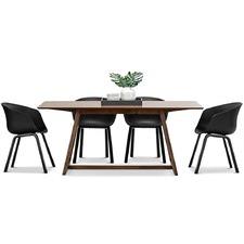 Walnut Manhattan Dining Table & Hay Scoop Replica Chairs Set