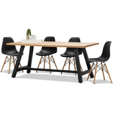 Brooklyn Dining Table & Eames Replica Chairs Set