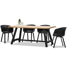 Brooklyn Dining Table & Hay Scoop Replica Chairs Set