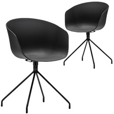 Black Hee Welling Hay Replica Dining Chairs (Set of 2)