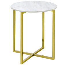 Gold Luxe Ellie Marble Top Side Table