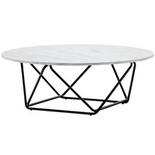 Black & White Aria Marble Coffee Table