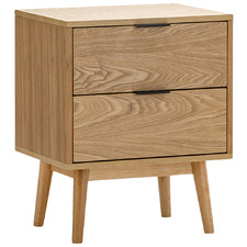 Natural Balbina 2 Drawer Bedside Table