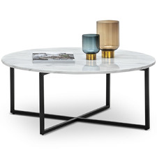 Luxe Milan Marble-Top Coffee Table
