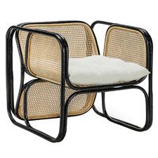 Jan Bocan Replica Woven Rattan & Cane Armchair