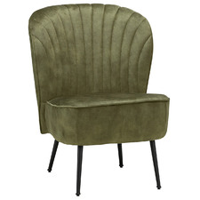 Moss Duros Shell Velvet Slipper Accent Chair