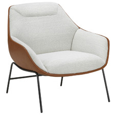 Dove White & Tan Tariel Lounge Chair