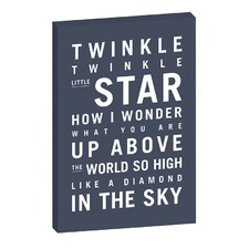 Nursery Art Twinkle Twinkle Little Star Stretched Canvas by Teresa Ventura