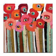 Stemmed Poppies by Anna Blatman Close Up 2 Wall Art