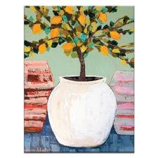Lemon Tree In Pot by Anna Blatman Wall Art