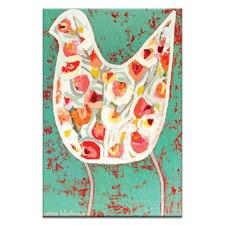 Flower Bird by Anna Blatman Wall Art