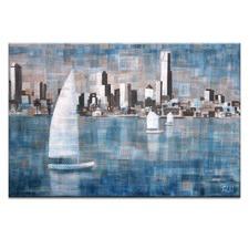 Sailing On Albert Park Lake by Jennifer Webb Wall Art