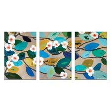Anna Blatman Looking Down on Lillies Triptych Art