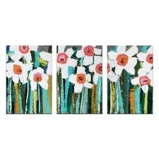 Anna Blatman Country Garden Triptych Art