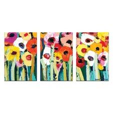 Anna Blatman Rainbow Garden Triptych Art