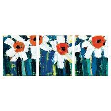 Anna Blatman Darcys Daisies Triptych Art