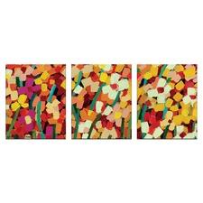 Anna Blatman Skeeta Daisies Triptych Art