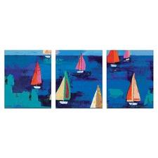 Anna Blatman Adrian's Regatta Triptych Art