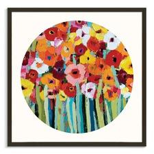Julies Blooms Round Framed Wall Art
