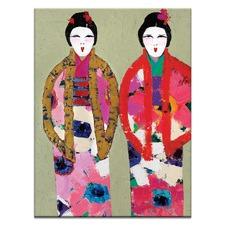 Aimi & Airi Printed Wall Art by Anna Blatman
